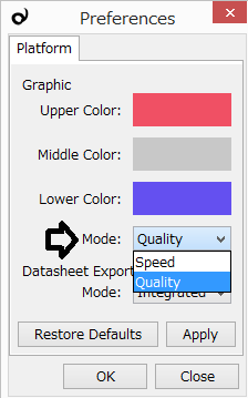 Preference - Graphic Mode